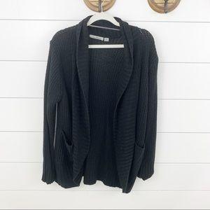 Jason Maxwell Black Open Front Sweater